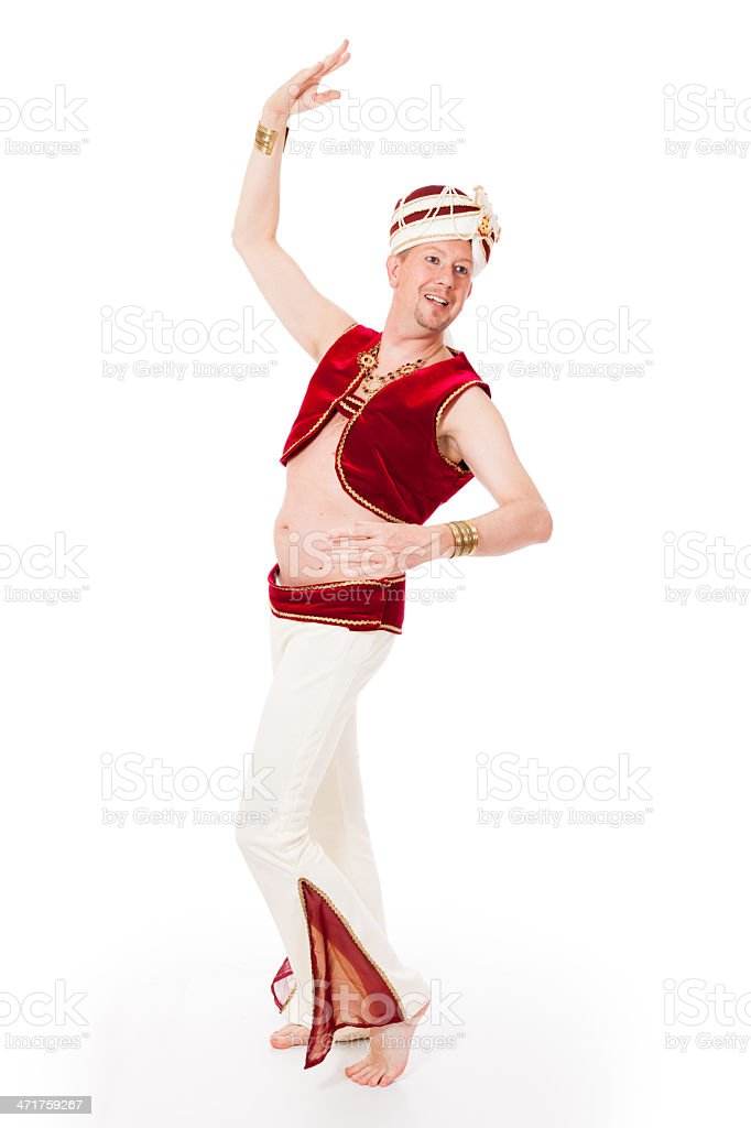 Dancing male genie stock photo
