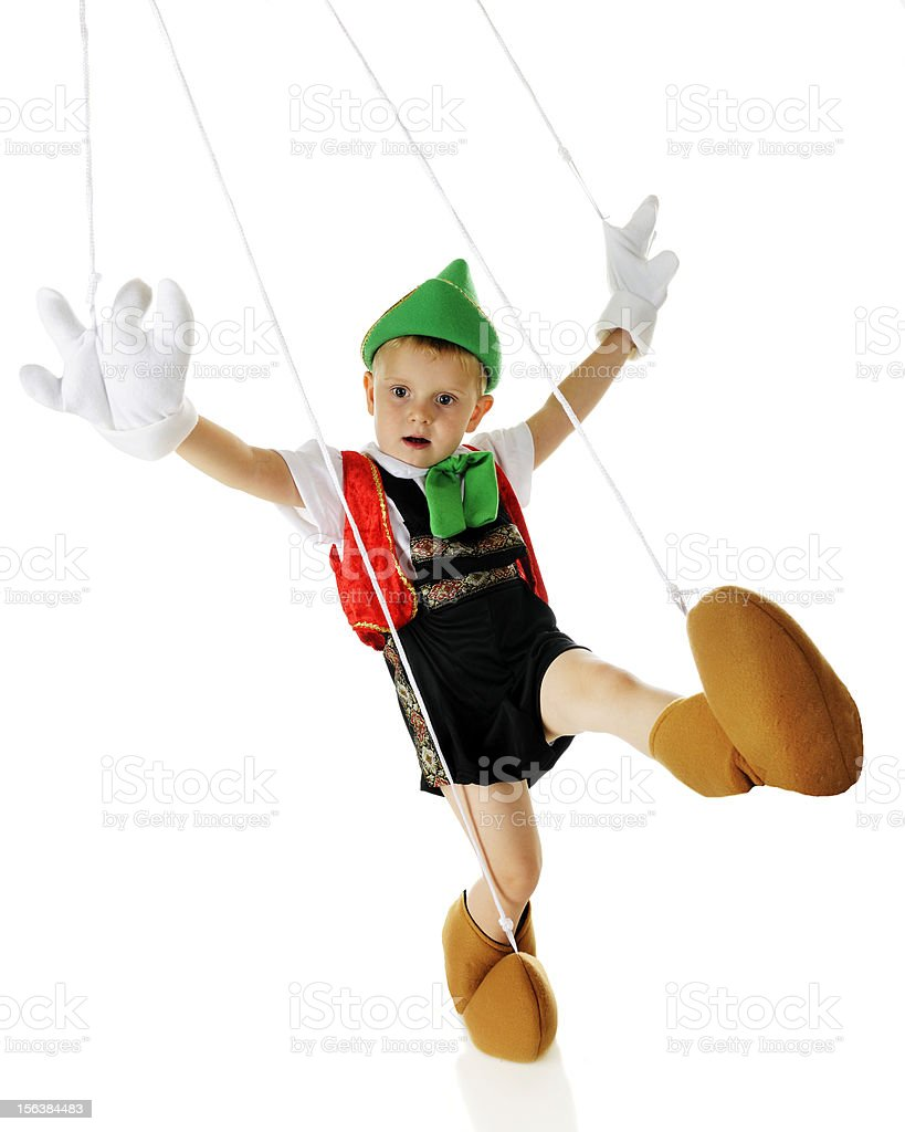 Dancing Marionette royalty-free stock photo