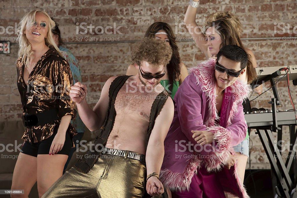 Dancing Men stock photo