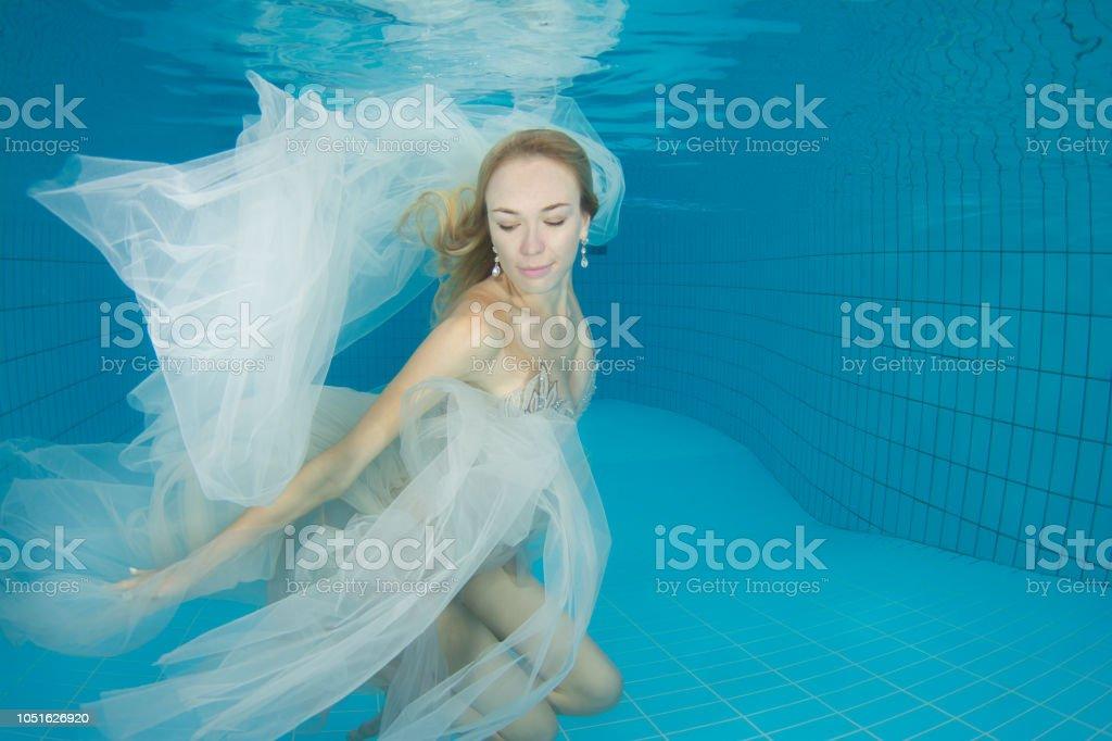 Dancing mermaid stock photo