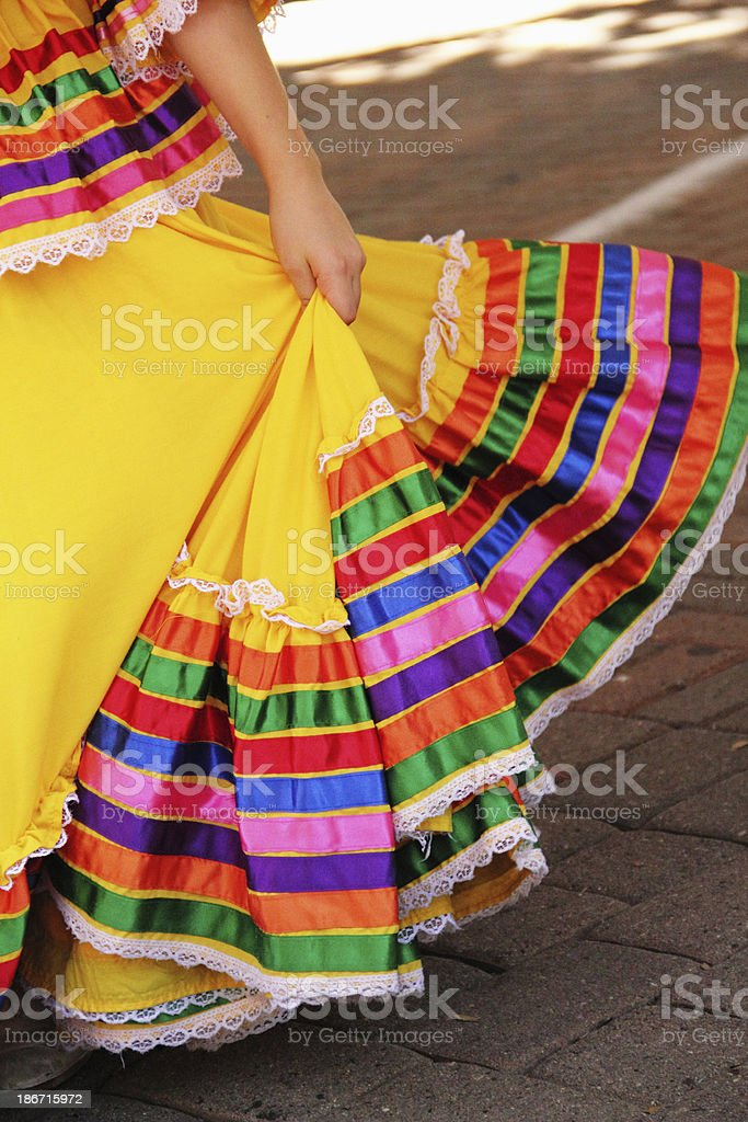 Dancing Mexican Dress stock photo