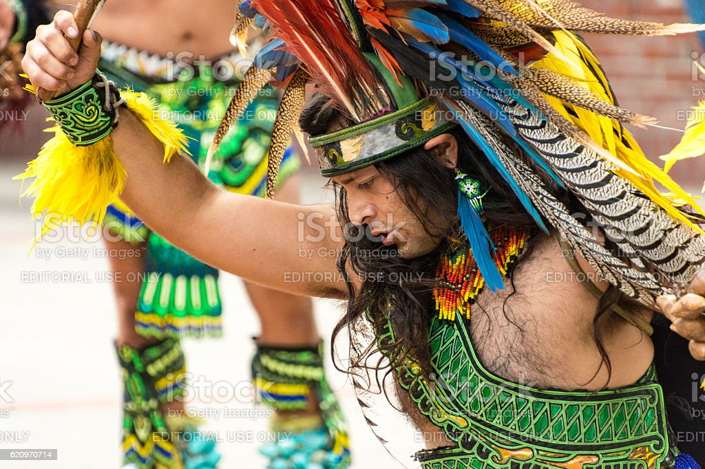 Dancing Mexican Street Performer - El Pueblo Los Angeles stock photo