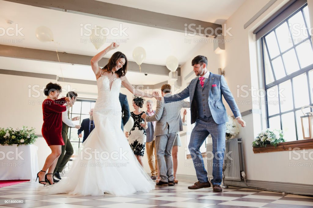 Dancing On Our Wedding Day stock photo