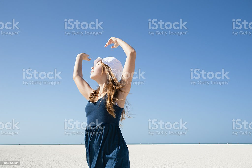 Dancing on the beach. royalty-free stock photo