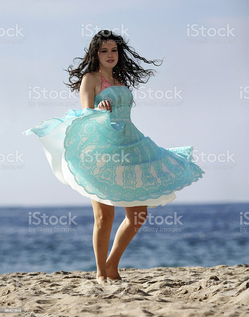 Dancing on the beach - Royalty-free Adult Stock Photo