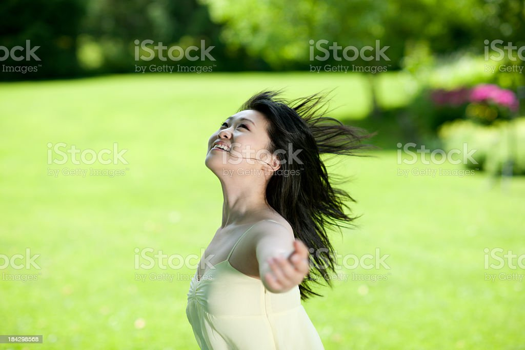 Dancing outside stock photo