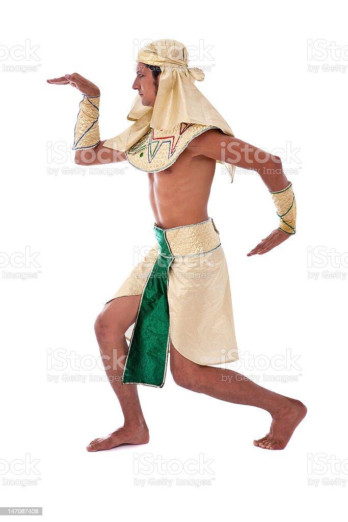 dancing pharaoh royalty-free stock photo