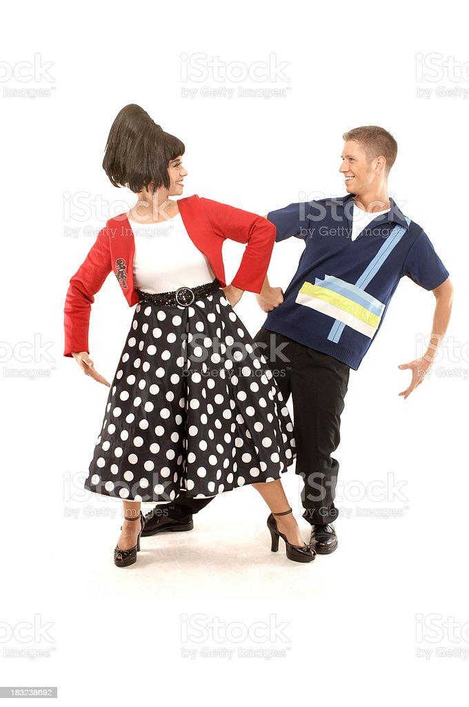 Dancing pose royalty-free stock photo