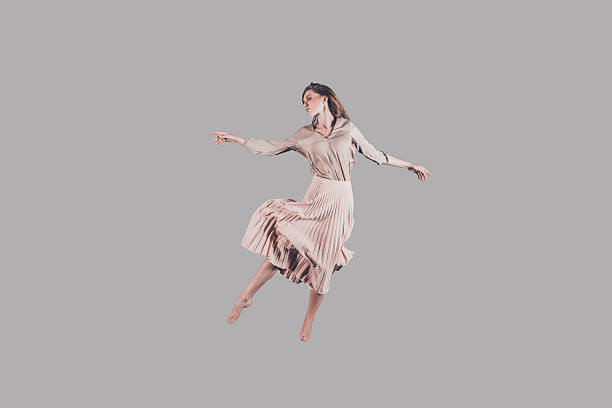 dancing queen. - on air stock photos and pictures