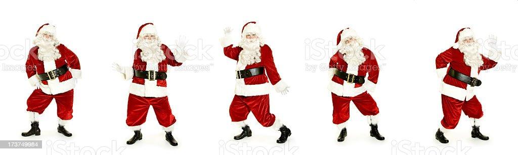 Danse Santa isolé sur blanc - Photo