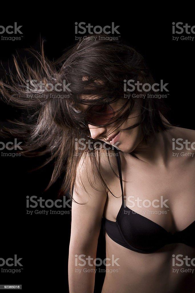 Dancing sexy woman royalty-free stock photo
