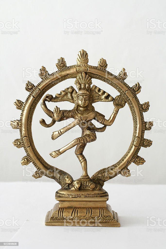 dancing shiva on white background royalty-free stock photo