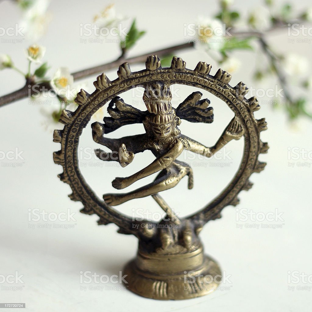 Dancing Shiva royalty-free stock photo