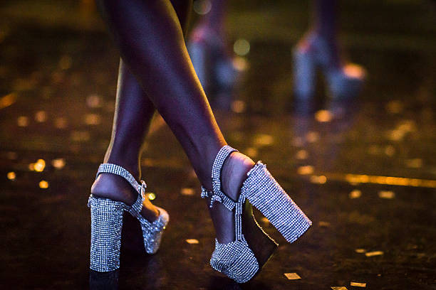 dancing shoes - 1970s style stock photos and pictures