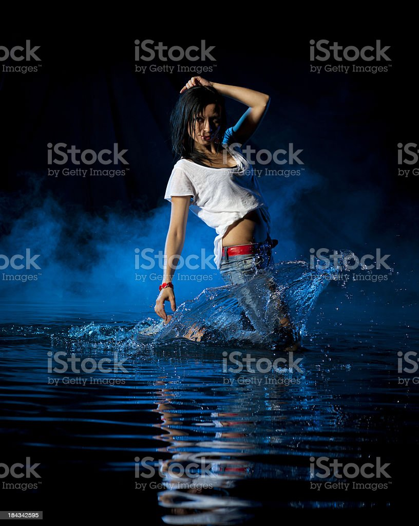 Dancing splash royalty-free stock photo