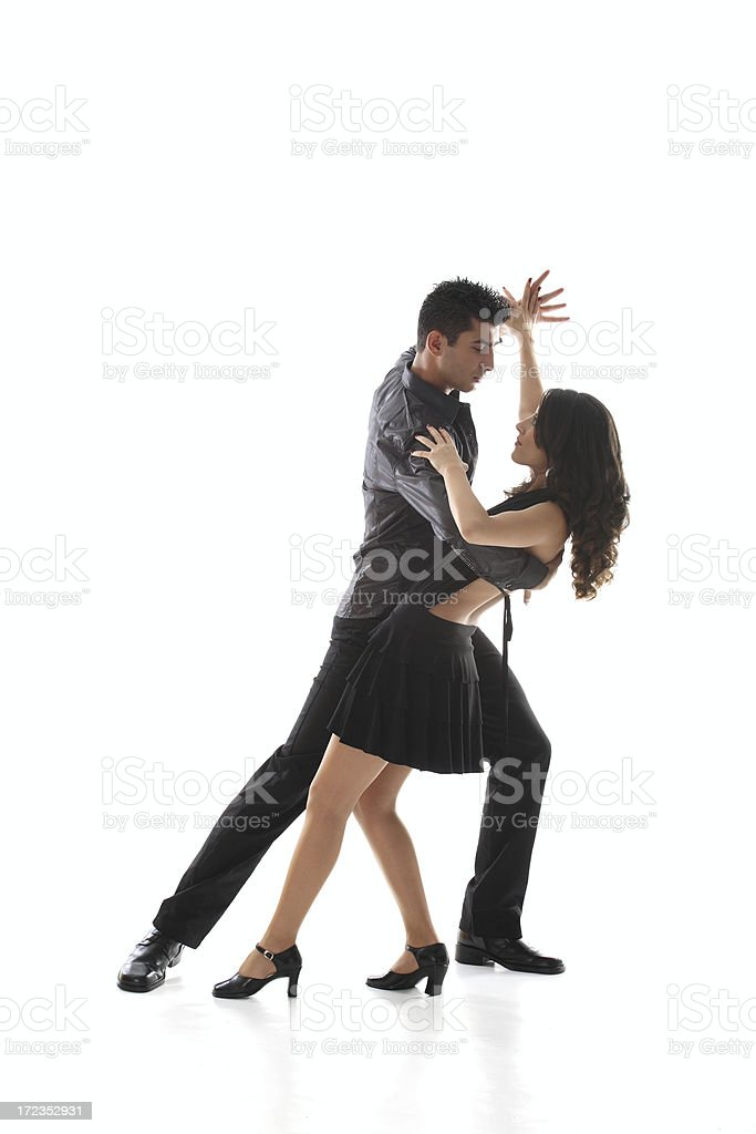 Dancing Teen Couple royalty-free stock photo