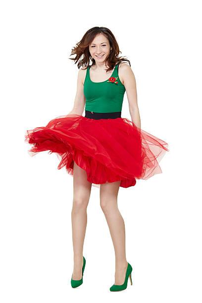 tanz teenager-mädchen tragen farbenfrohe kleidung - tüllkleid stock-fotos und bilder