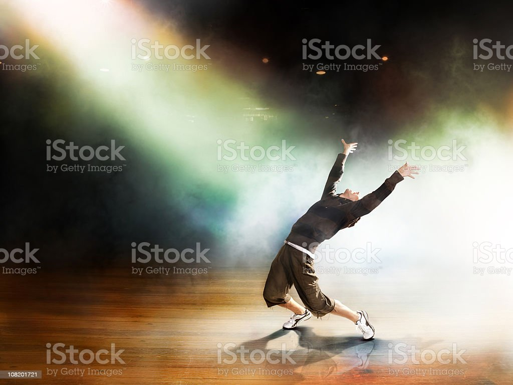 Dancing through light stock photo