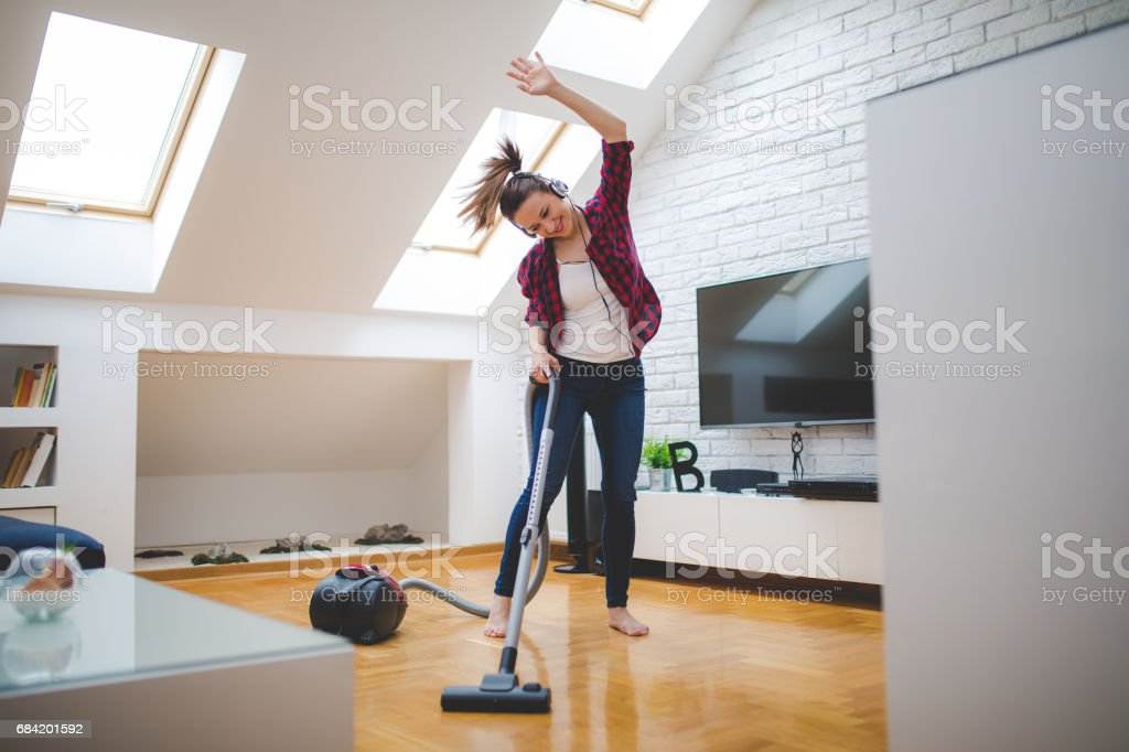 Dancing through the house royalty-free stock photo