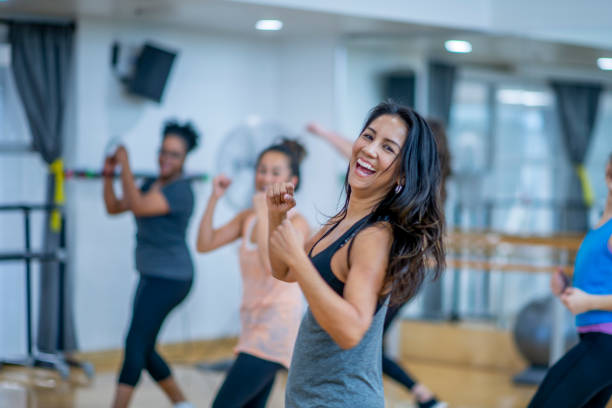 dancing to get healthy - dance class stock photos and pictures