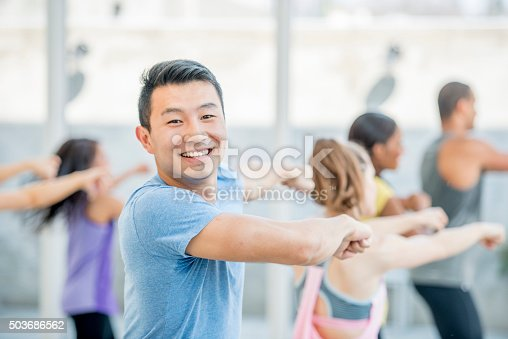 istock Dancing Together in Zumba 503686562