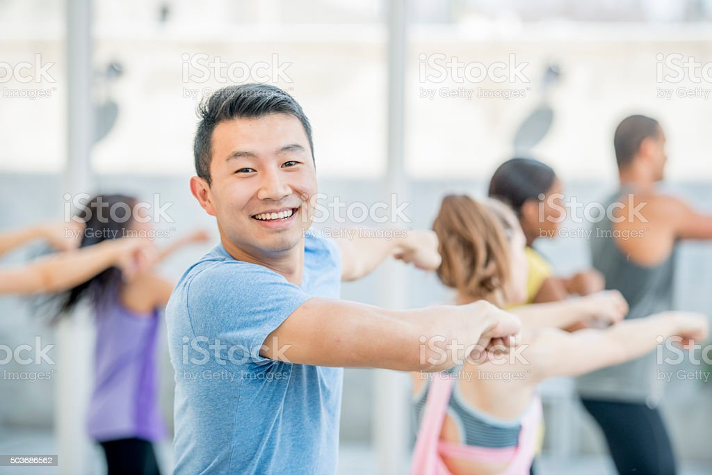 Dancing Together in Zumba stock photo