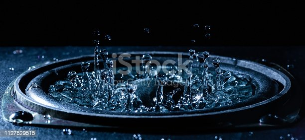 istock Dancing water on loudspeaker 1127529515