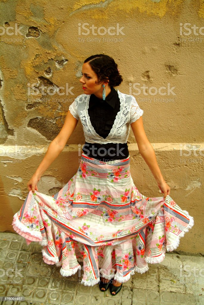 Dancing with myself royalty-free stock photo