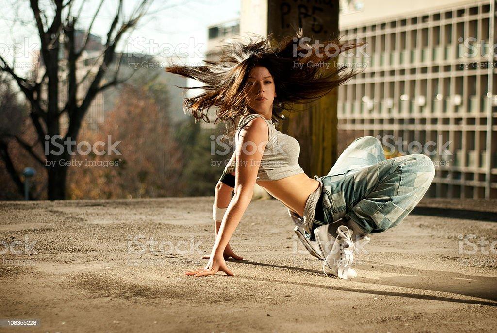 Dancing woman stock photo