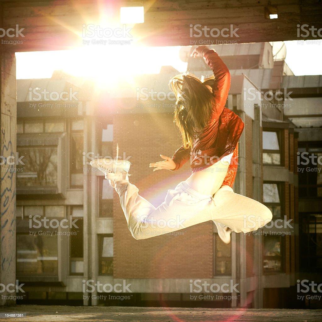 Dancing woman royalty-free stock photo