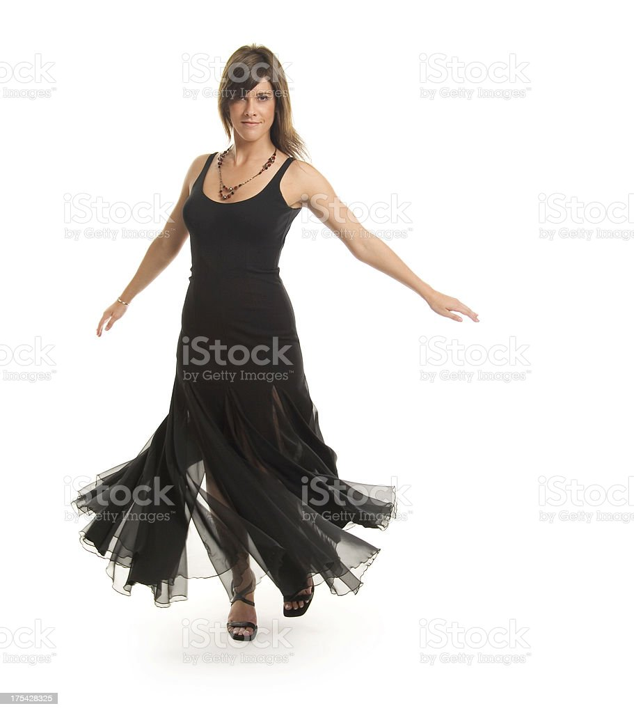 Dancing Woman (isolated) royalty-free stock photo