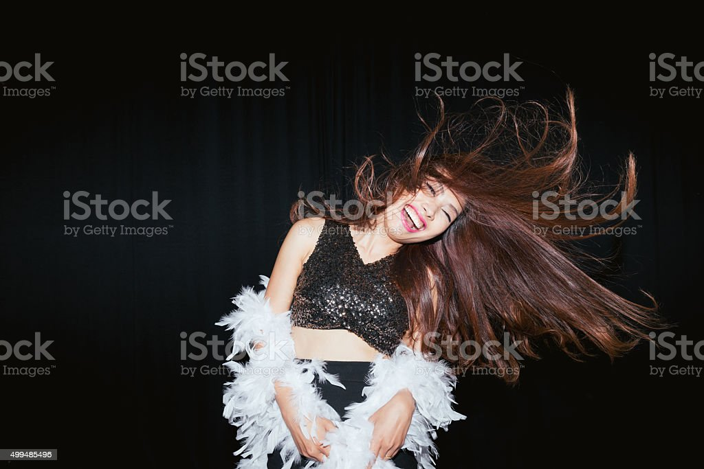 Dancing woman stock photo