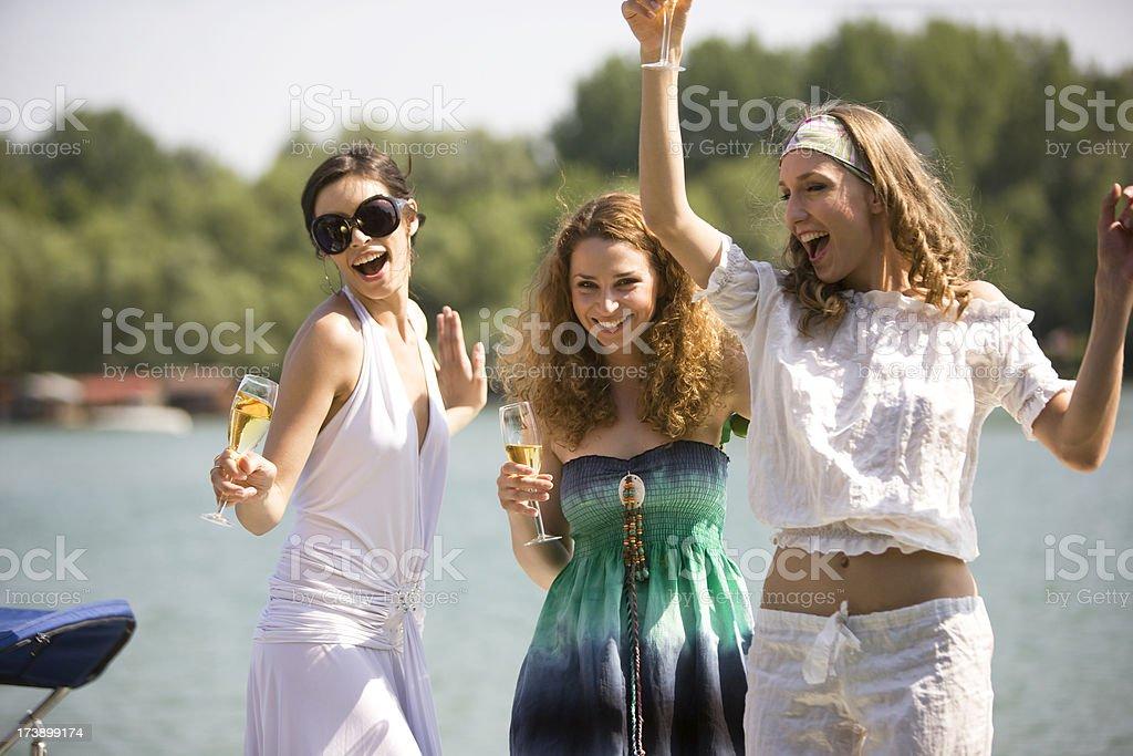 Dancing Women royalty-free stock photo