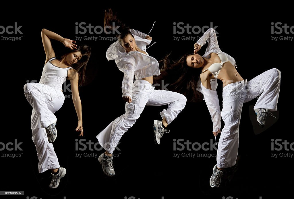 dancing young woman royalty-free stock photo
