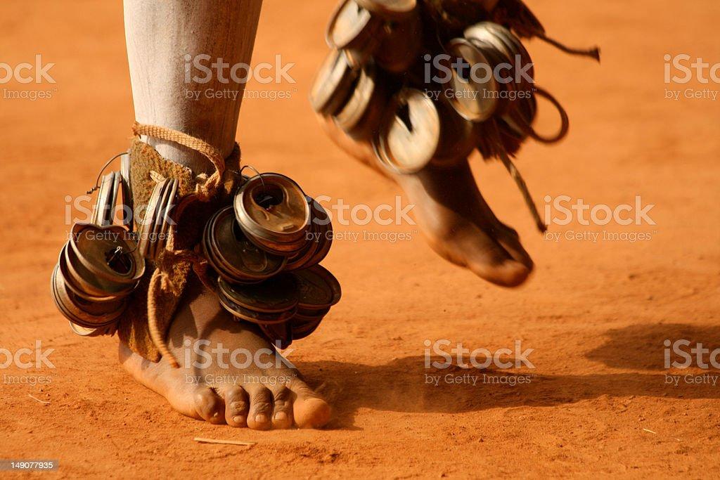 Dancing Zulu Feet stock photo