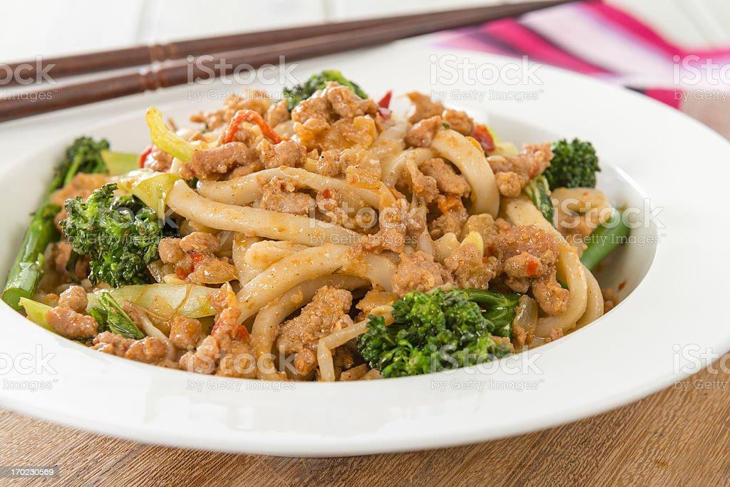 Dandan Noodles - 擔擔麵 royalty-free stock photo
