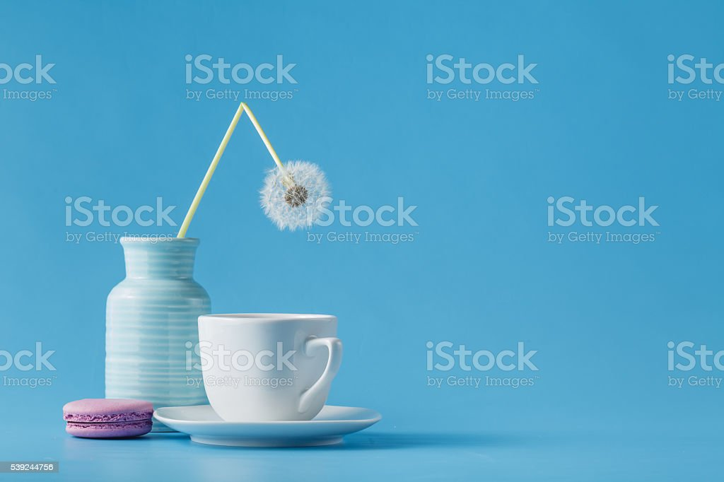 Dandelion flowers on table royalty-free stock photo