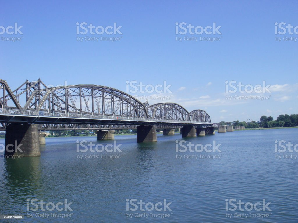 Dan-dong Bridge, china stock photo