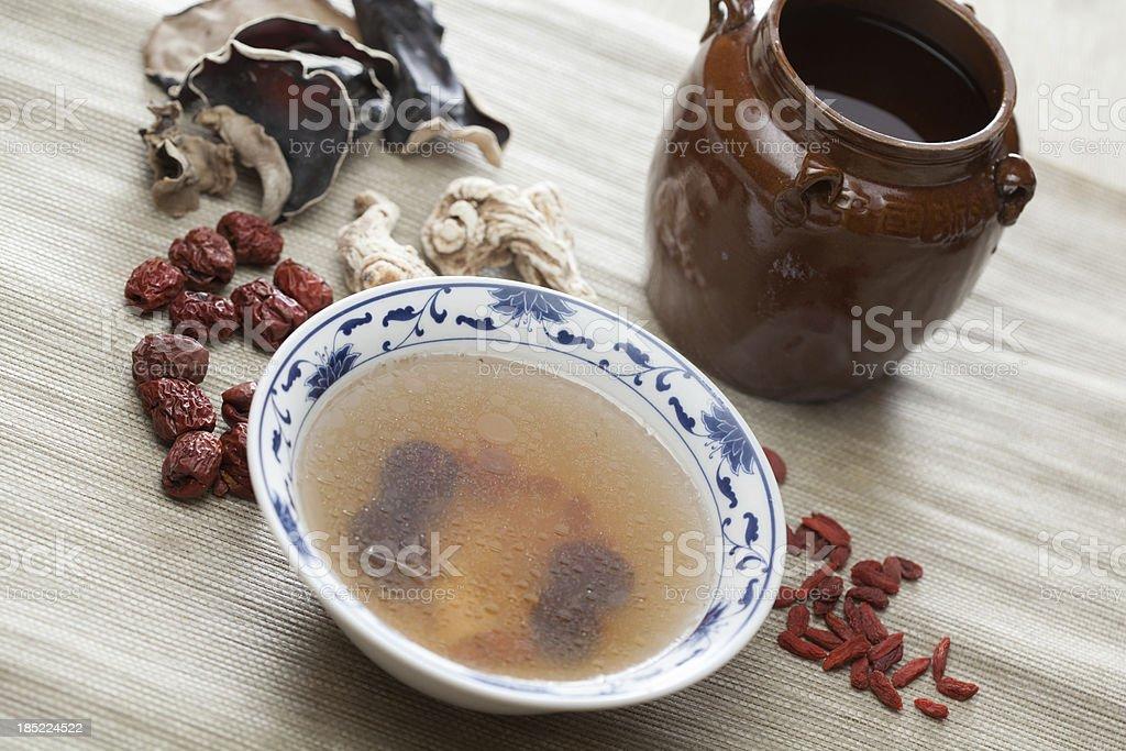 Dang Gui soup stock photo