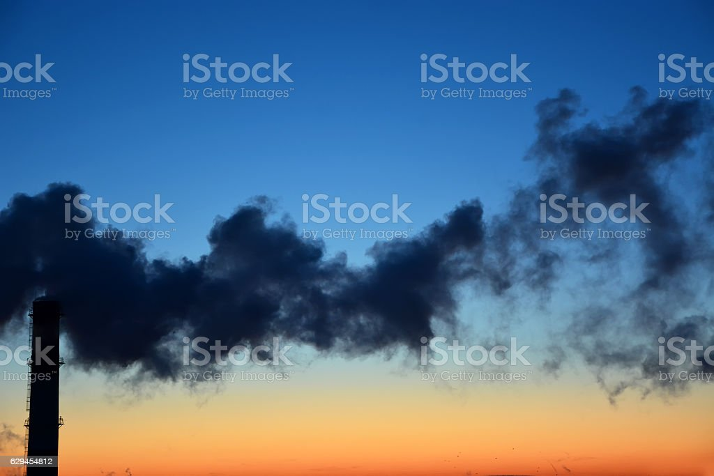 Danger! Air pollution! stock photo