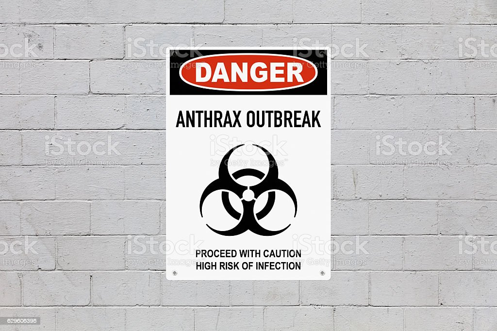 Danger - Anthrax outbreak stock photo