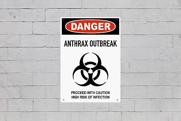 danger - anthrax outbreak - antrace foto e immagini stock