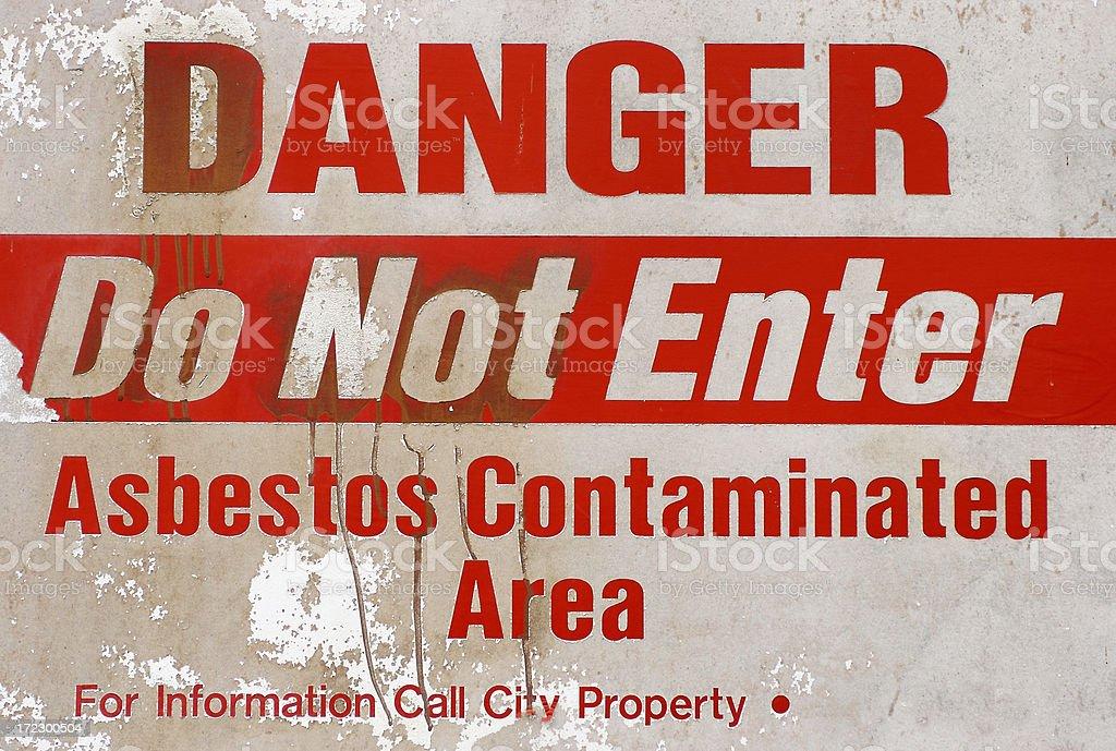 Danger: Asbestos royalty-free stock photo
