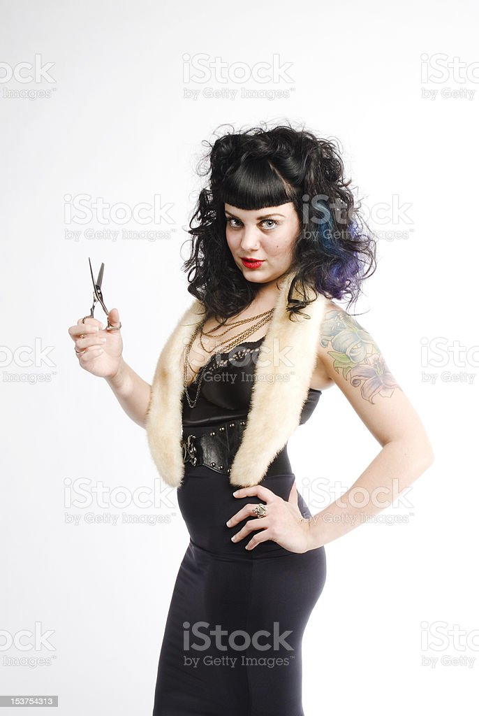 Danger at the Salon royalty-free stock photo