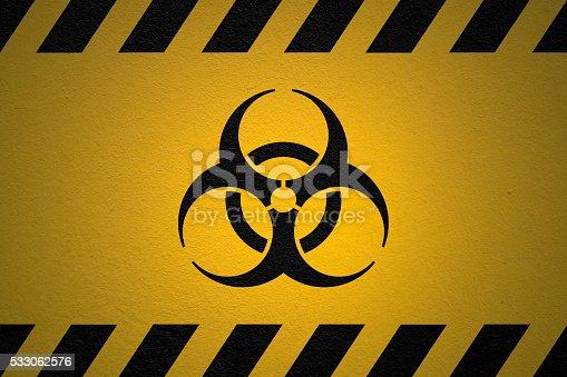 istock Danger Biohazard sign 533062576