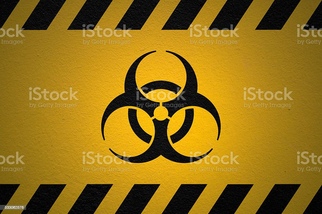Danger Biohazard sign stock photo