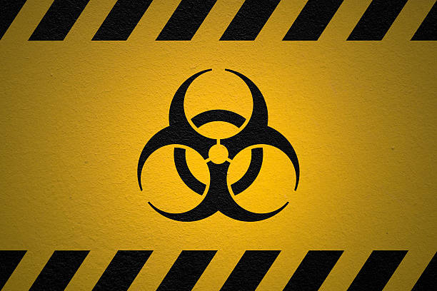 Danger Biohazard sign Black  decontamination stock pictures, royalty-free photos & images