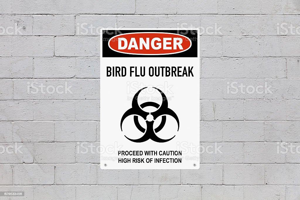 Danger - Bird Flu outbreak stock photo