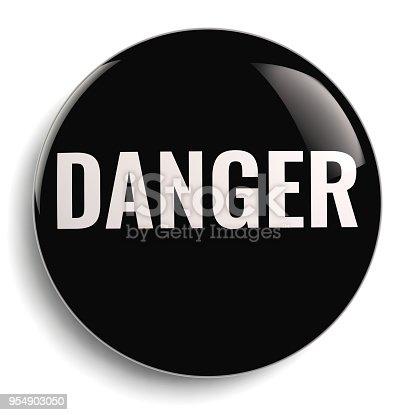 istock Danger Black Round Icon Symbol 954903050