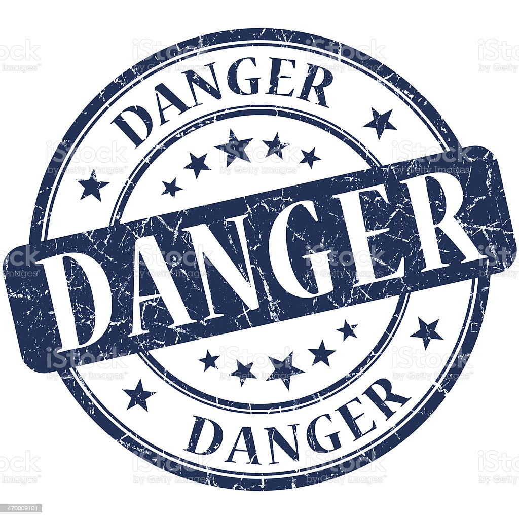 Danger Blue stamp royalty-free stock photo